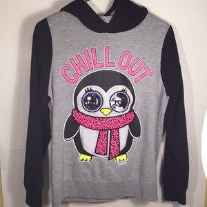Justice Girls Pullover Hooded Sweatshirt 18